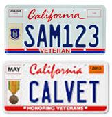 License Plates Honoring Veterans